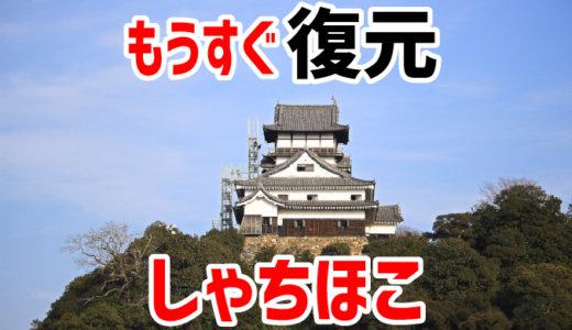 犬山城天守のしゃちほこがもうすぐ復元されます。2018年2月。