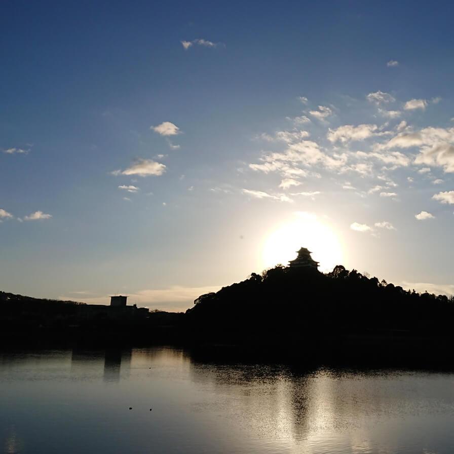 今日の犬山城は…『ダイヤモンド犬山城🏯🌄』