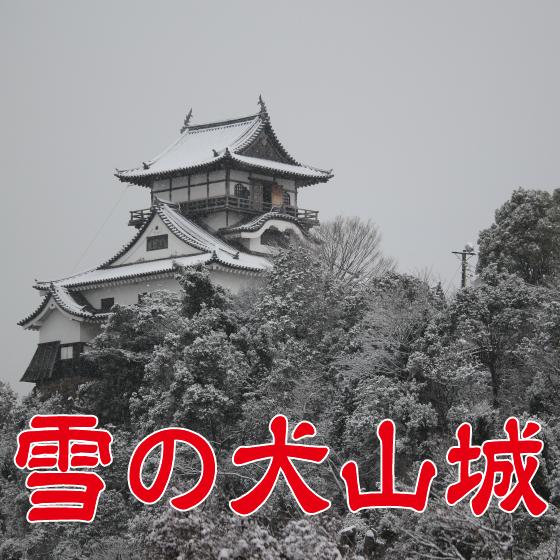 雪の犬山城。2018冬