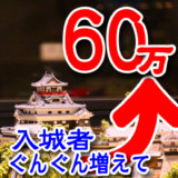 10年連続!入場者数がぐんぐん増加している国宝犬山城が、いま熱い!年間入城者60万人突破!