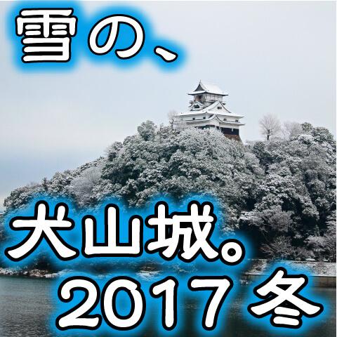 雪の、国宝犬山城は冬にしか見れない景色だったのだ。in 2017冬