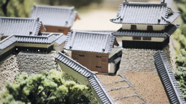 犬山城のジオラマ。黒門