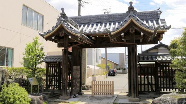 犬山城・矢来門。専修院東門の裏側