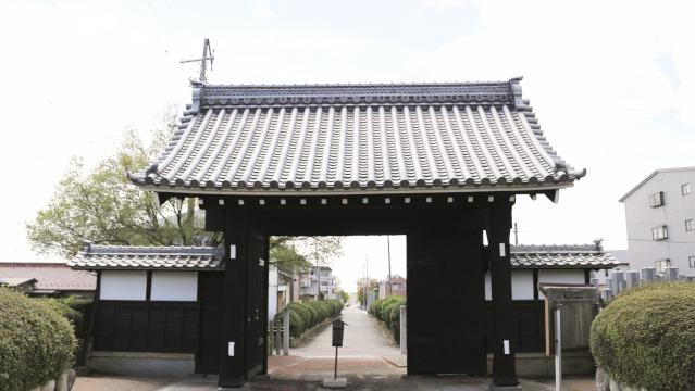 徳林寺山門の裏側。薬医門の形がよくわかる