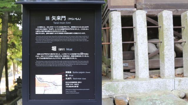 犬山城・矢来門の案内板