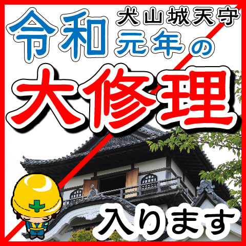 犬山城天守が大修理工事に入ります。写真を撮るならいま!-犬山城天守保存修理工事(令和元年6月~12月)