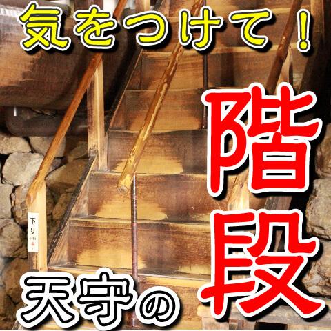天守の階段