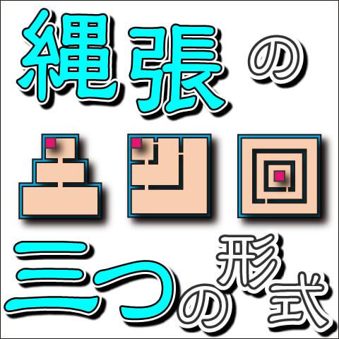 縄張(なわばり)の三つの基本形式
