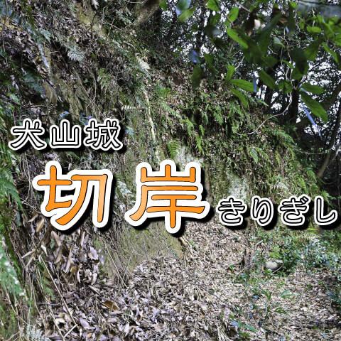 犬山城・切岸(きりぎし)