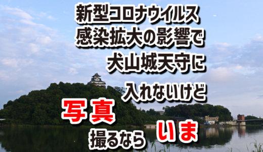 新型コロナの影響で犬山城天守には入れないけど、写真を撮るなら今が絶好のチャンスです。