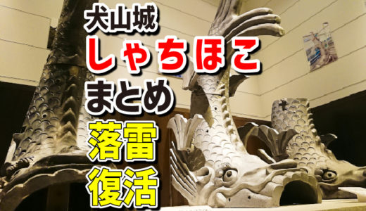 【犬山城しゃちほこ】2017年7月の落雷での大破から、完全復活までの記録まとめ。