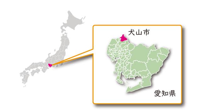 愛知県犬山市の地図