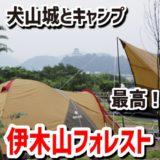 国宝犬山城が見えるキャンプ場・伊木山フォレストって最高かよ