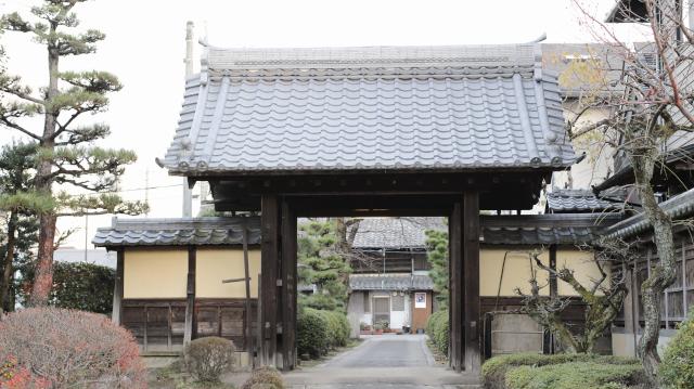 松の丸裏門-常満寺山門