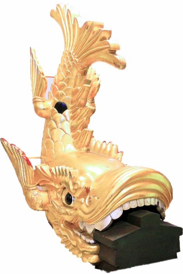 名古屋城のしゃちほこレプリカ