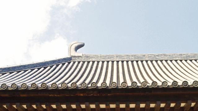 唐招提寺金堂の現存最古の鴟尾