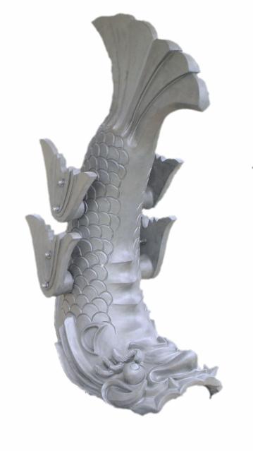 熊本地震の後に宝暦のものをモデルに制作された熊本城のしゃちほこ