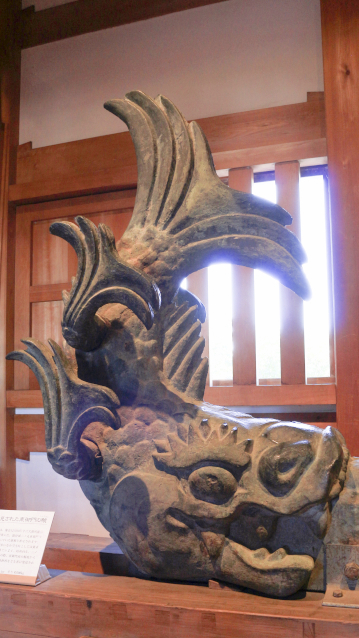 駿府城で発見された青銅製のしゃちほこ