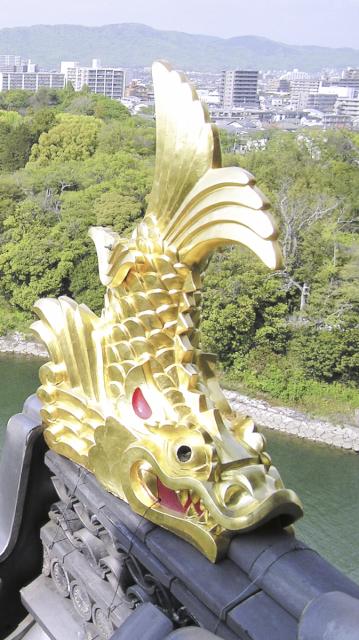 岡山城しゃちほこ