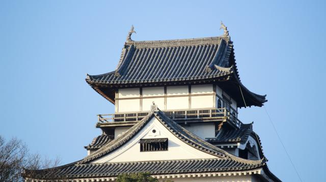 犬山城天守最上階の外観