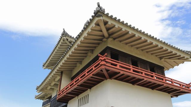 松本城月見櫓の高欄