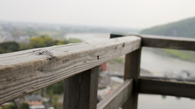 犬山城天守最上階の高欄
