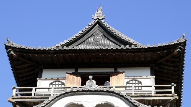 犬山城天守最上階の破風と懸魚