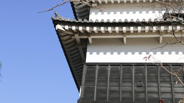 犬山城天守1階部分のアップ