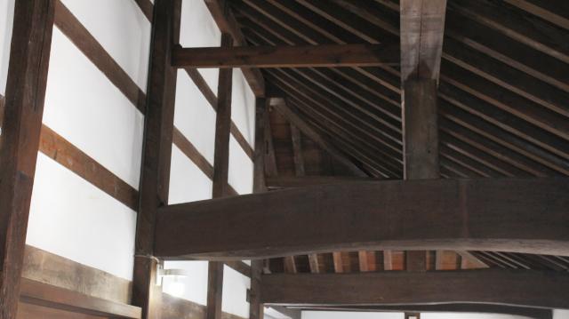 犬山城天守二階の屋根裏