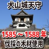 """犬山城天守は1585~1588年伐採の木材で建てられたと科学的に証明された、""""最古級""""の天守"""