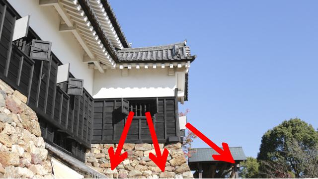 犬山城天守東南付櫓からの攻撃の画