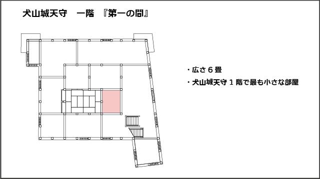 犬山城天守一階平面図、第一の間