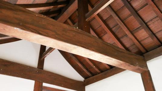 犬山城天守・東南付櫓内部の天井