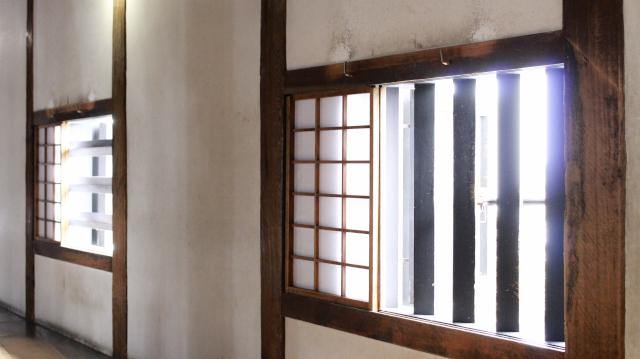 犬山城天守1階の格子窓