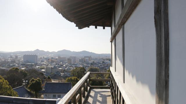 犬山城天守4階の廻縁・高欄