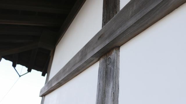 犬山城天守4階の廻縁・高欄。真壁造