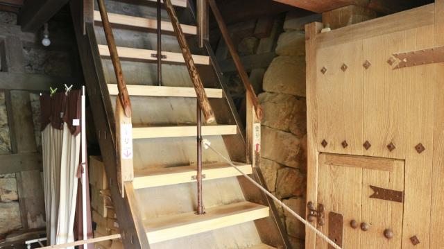 犬山城天守地下2階の階段